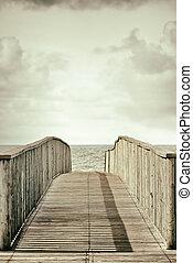 Wood bridge vintage style