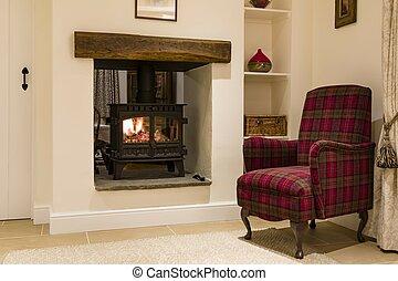 Wood burning stove, woodburner
