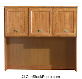 Wood cabinet isolate