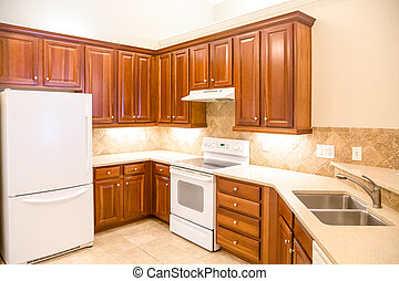 Wood Cabinets and Stone Countertop
