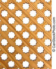 Wood carved decorative panel