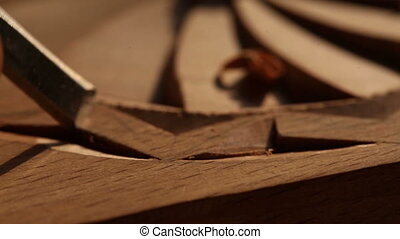 Wood carving. Chisel