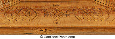 Wood carving pattern texture