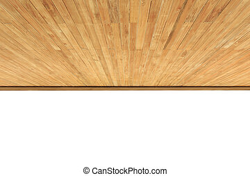 Wood ceiling isolated on white background.