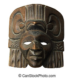 Wood central america mask