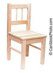 wood chair isolated on white