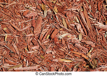 Wood chip mulch - Red brown wood chip mulch background...