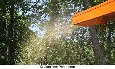 Wood chipper systems in shredder grinder wooden trees ...