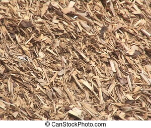 wood chips sawdust stack