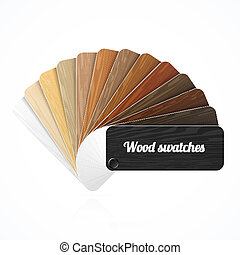 Wood color swatches, guide