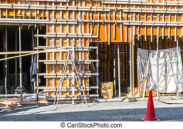Wood construction home framing  .