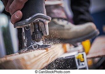 Wood Construction Tool - Wood Construction Power Tool. Wood...