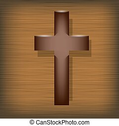 Wood Cross.  Symbol of Religion