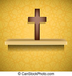 Wood Cross. Symbol of Religion
