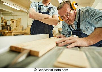 Wood Cutter Closeup
