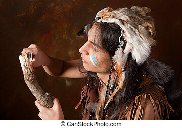 Wood cutting Indian