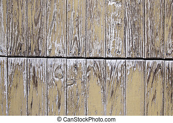 Wood damaged by time