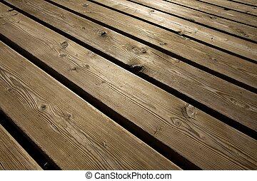 Wood deck - Wooden deck background lumber pattern