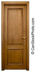 Wood Door 3 - Isolated Home Door