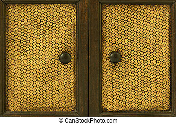 Wood Door handles and bamboo stick cross