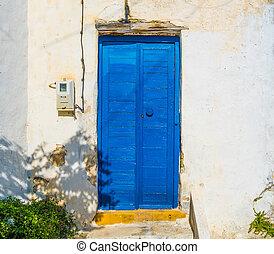 Wood door in old house
