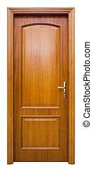 Wood Door - Isolated Home Door