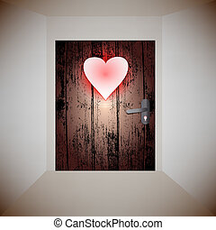 wood door love