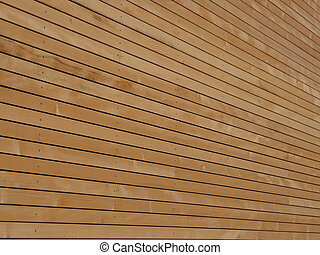 wood façade - Background texture of finely slatted natural...