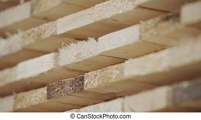Wood factory stock and lumber board with nature business ...