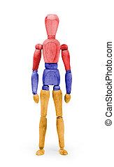 Wood figure mannequin with flag bodypaint - Armenia