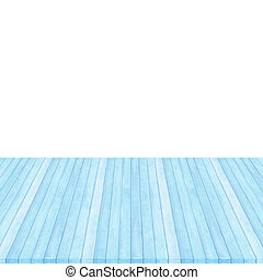 Wood floor blue pastel colour perspective on white background