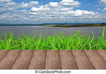 Wood floors in the grass