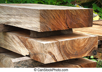 Wood for industrial