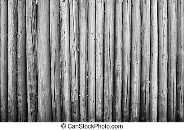 Wood fort wall black and white