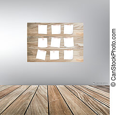 Wood frame and wood floor. Vector illustration.