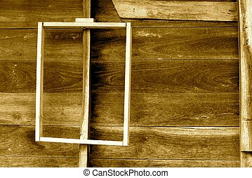 wood frame - detail of natural wood texture,shallow focus