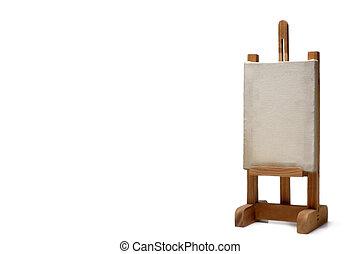 wood frame holder on white background