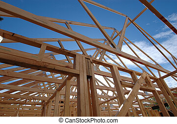 wood frame - house and roof frame