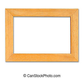 wood frame in isolated