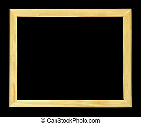 Wood frame isolated on black background