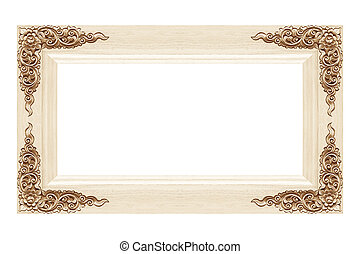 wood frame Isolated on white background