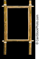 wood frame made from bamboo with clipping path