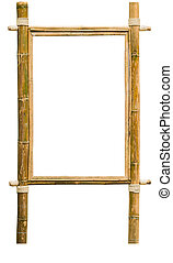 wood frame made of bamboo