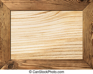Wood Frame - Natural wood frame with wooden plank inside