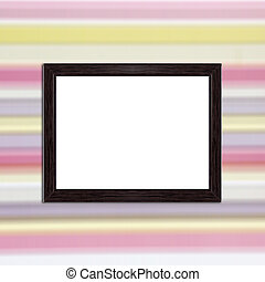 wood frame on blur colorful for background textured