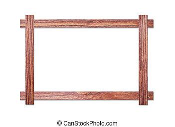 wood frame on white background - wood frame isolated on...