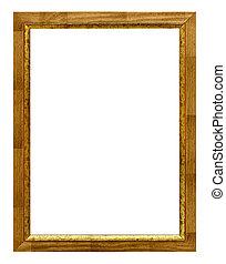 Wood frame on white background