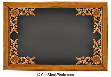wood frame on white background.