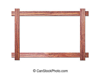 wood frame on white background - wood frame isolated on...
