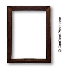 Wood frame on white